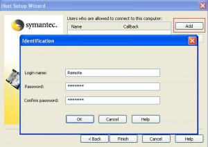 Add user with user name and password