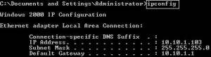 Use ipconfig to see essential IP address information