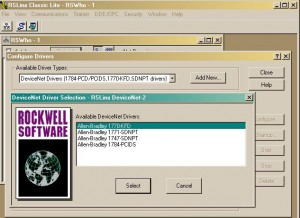 Select 1770-KFD Driver in RSLinx