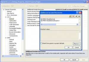VS2010 Project Property C/C++ General Additional Include Directories