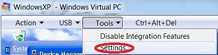 002 - Click on Settings