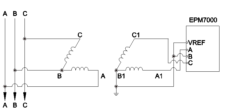 What epm7000 phasor diagram should look like for 2ct delta 000 epm7000 pt circuit ccuart