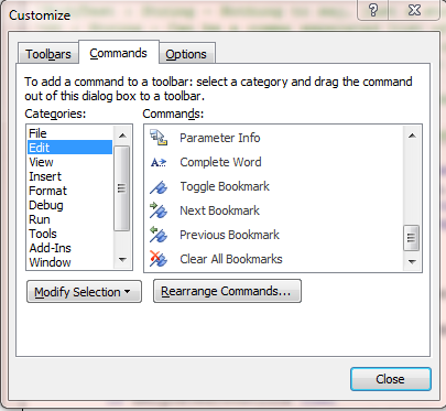 002 - Add Bookmarks to Tool Bar