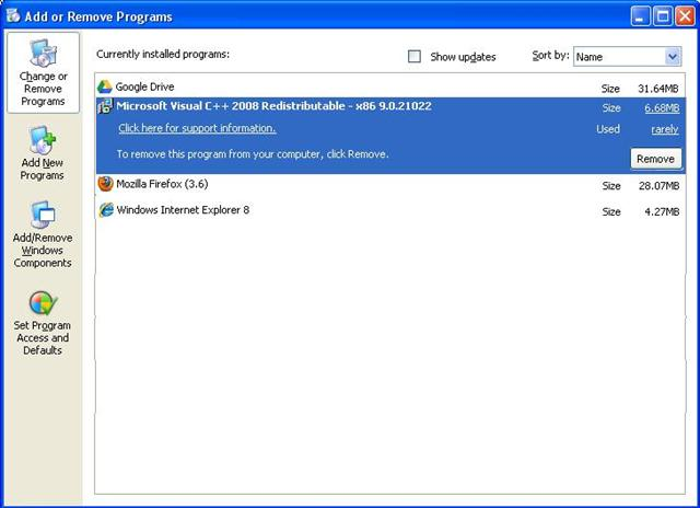 002 - Remove C++2005 and Install C++2008