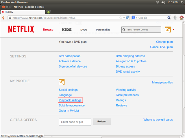how to change playback settings netflix