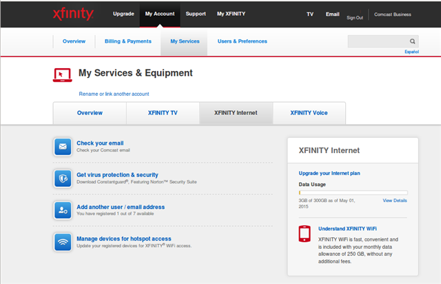 007 - Xfinity Data Usage Reset at new month